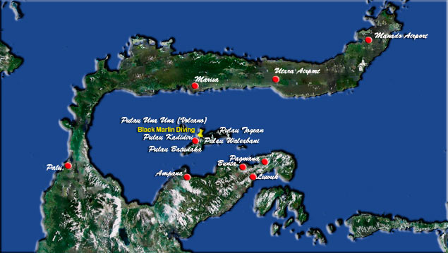 Map of Sulawesi Indonesia - Tomini Bay - Click to Enlarge